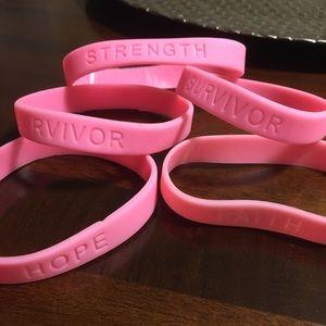 Breast Cancer Awareness ASSORTED Rubber Bracelets